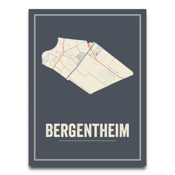 Bergentheim kaart