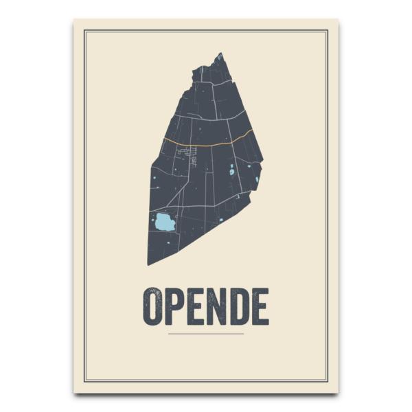 kaarten poster Opende