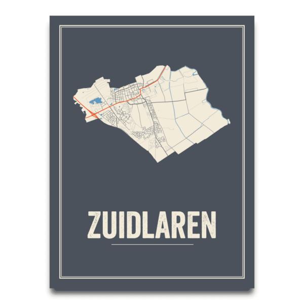 Zuidlaren dorpskaart