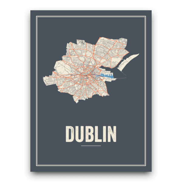 City map Dublin