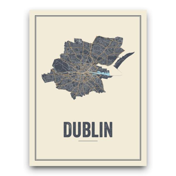 Stadskaart Dublin