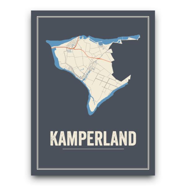 Kamperland stadskaart