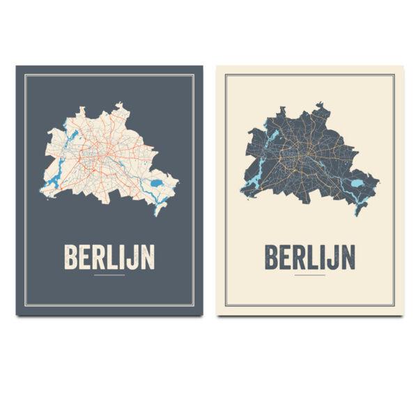 Berlin stadskaart poster