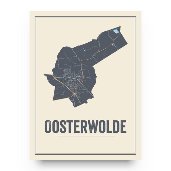 Oosterwolde stadskaart