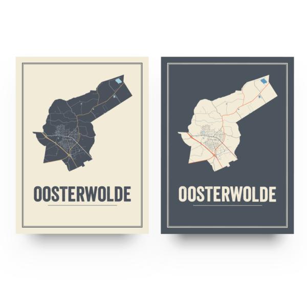Oosterwolde poster kaarten