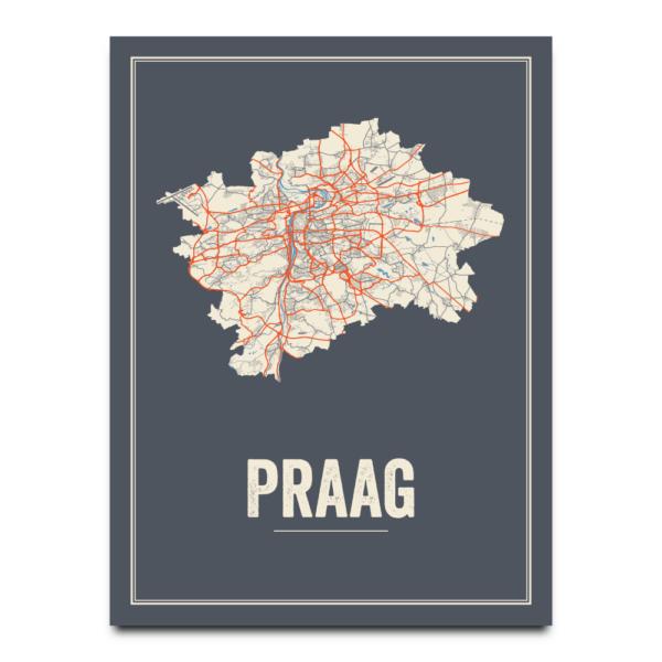 Praag stadskaart