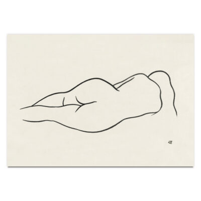 Reclining Nude Woman by Ananda K. Coomaraswamy