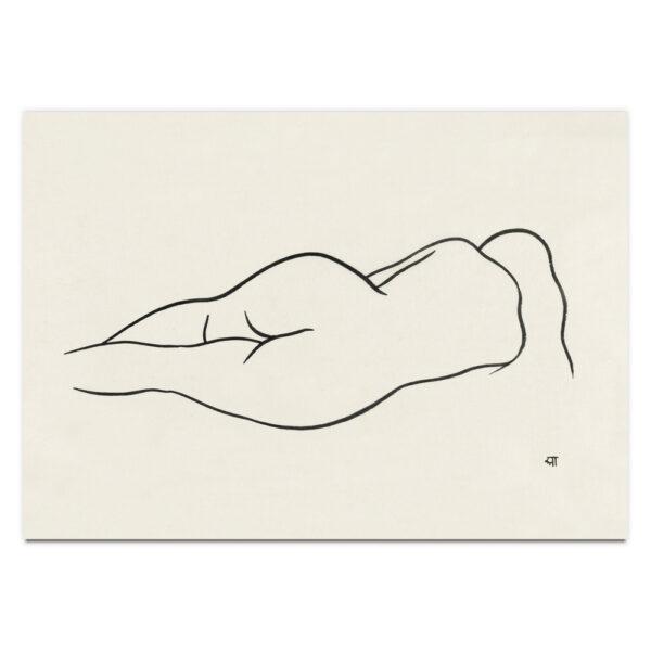 Reclining Nude Woman by Ananda K. Coomaraswamy