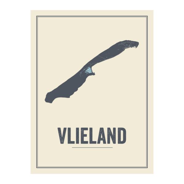 Vlieland map poster