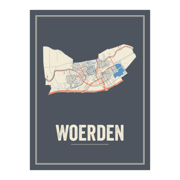 Woerden stadskaart