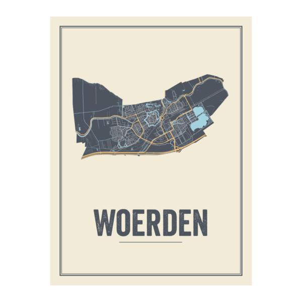 Woerden city map
