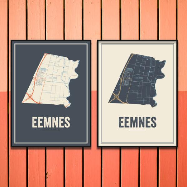 Eemnes stadskaart poster