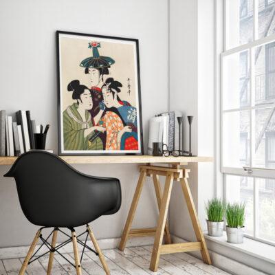 Geishas framed poster