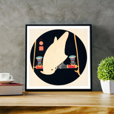 japanse vogel poster