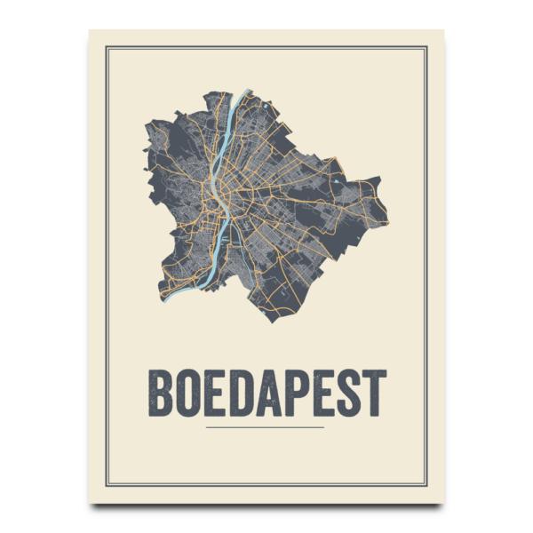 Boedapest city poster