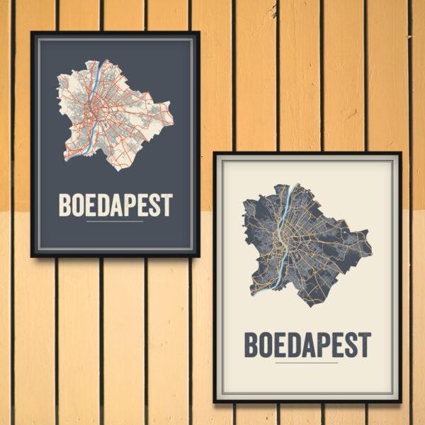Budapest stadskaart