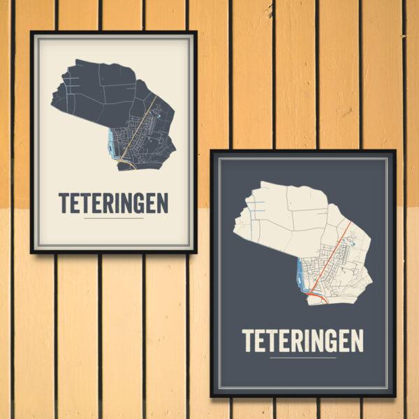 Teteringen stadskaart