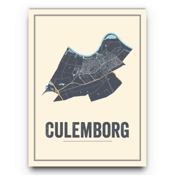 Culemborg stadskaarten poster