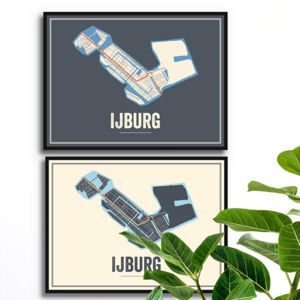 Ijburg stdskaart