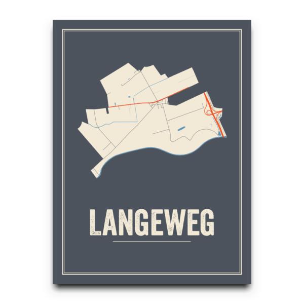 Langeweg kaarten poster