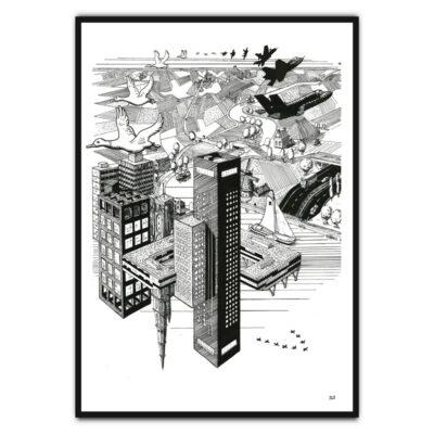 Escher style poster
