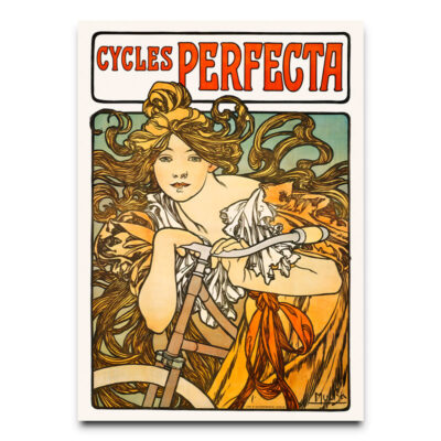 vintage bicycle advertising poster