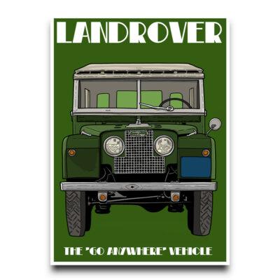 Landrover defender poster