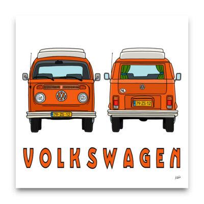 Volkswaen bus poster